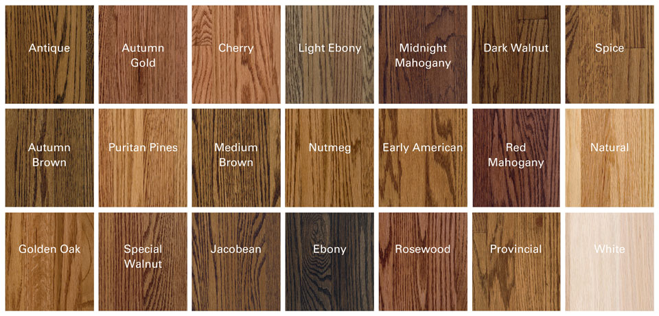 Woodsong Stain Samples